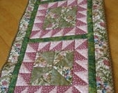 Quilted Table Runner in Botanicals Prints