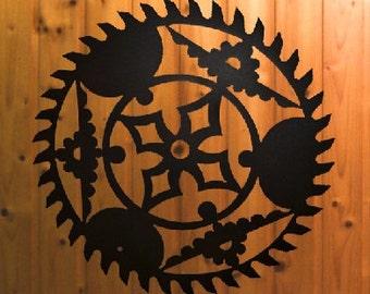 Large Saw Metal Wall Art (H8)