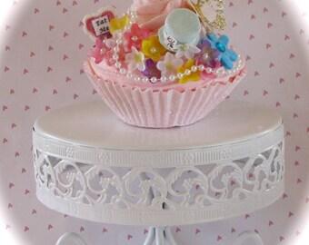 "Alice In Wonderland Inspired ""Mad Hatter's Tea Party Collection"" (1) Jumbo Pink Fake Cupcake Handmade Hat Fab Birthday/Shower/Wedding Decor"