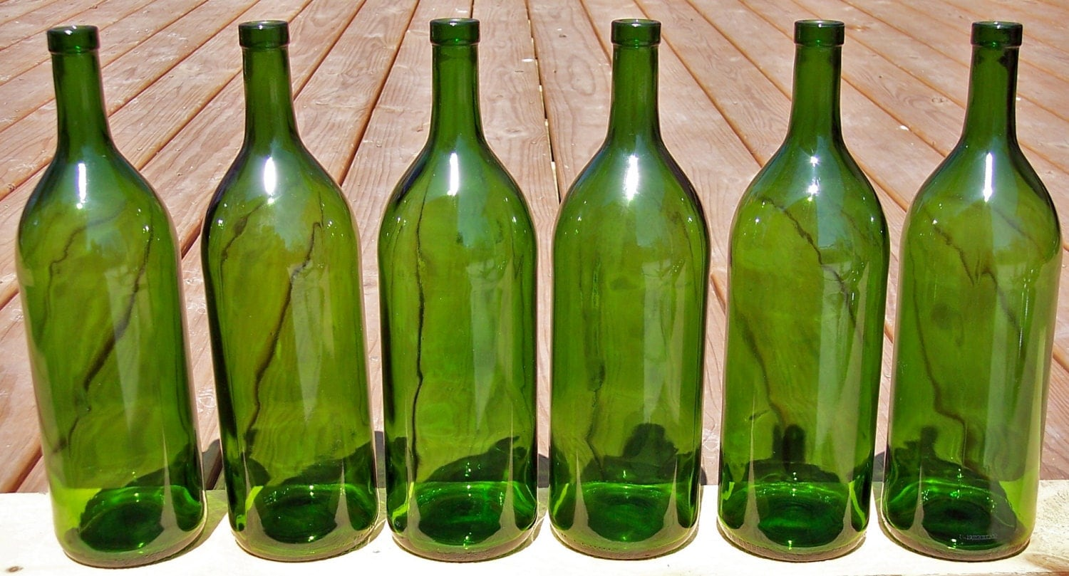 Large magnum 1 5l empty glass wine bottles color of your - Empty colored wine bottles ...
