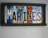 SALE - MARINES license tag sign No. 14 - 8milecreekdesigns