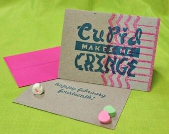 Anti-Valentine's Day Cupid card