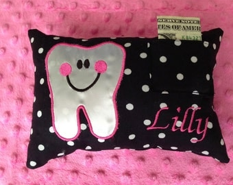 Appliqued Tooth Fairy Pillows with Personalization