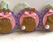 Sweet Easter Embellishments - Set of 3 - Bunny Tags