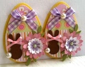Sweet Easter Embellishments- Chocolate Easter Bunnies -