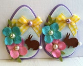 Sweet Easter Egg Embellishments - Bunnies -