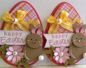Sweet Easter Egg Embellishments - Happy Easter - Bunnies -