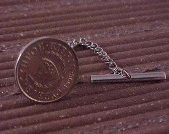 Cyprus Coin Tie Tack - Free Shipping to USA