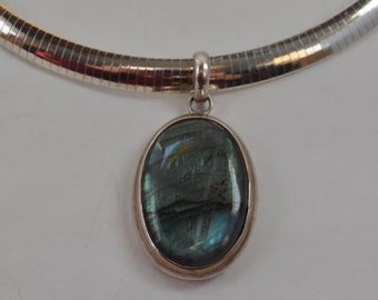 Sterling & Turquoise Pendant
