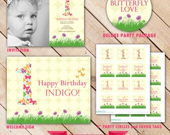 Deluxe BUTTERFLY LOVE Collection...Custom Printable Party Package...Personalized...by KM Thomas Designs