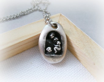 Family Silver Necklace - Sterling Silver Family Pendant - Family Jewelry Sterling silver - Mom Sterling Silver Necklace
