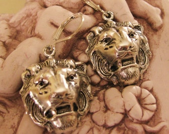 SILVER LION EARRINGS  - Always on Your Side