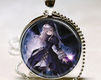 1 inch Round Pendant Tray --Goth Angels Fairies 1
