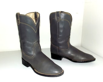 Laredo brand Grey Roper style Cowboy Boots size 5 D or Cowgirl size 6.5
