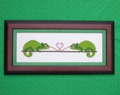 French Kiss -  Lizards Kissing Cross Stitch Pattern