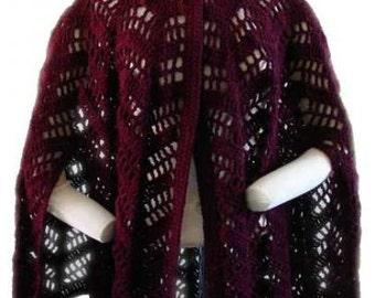 Lacy Ripple Cape Crochet Pattern PDF