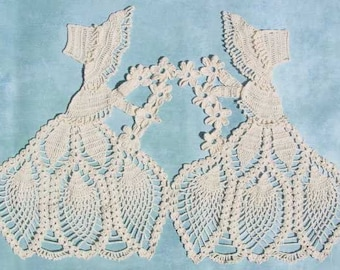 Old Fashioned Girl Doily Crochet Pattern PDF