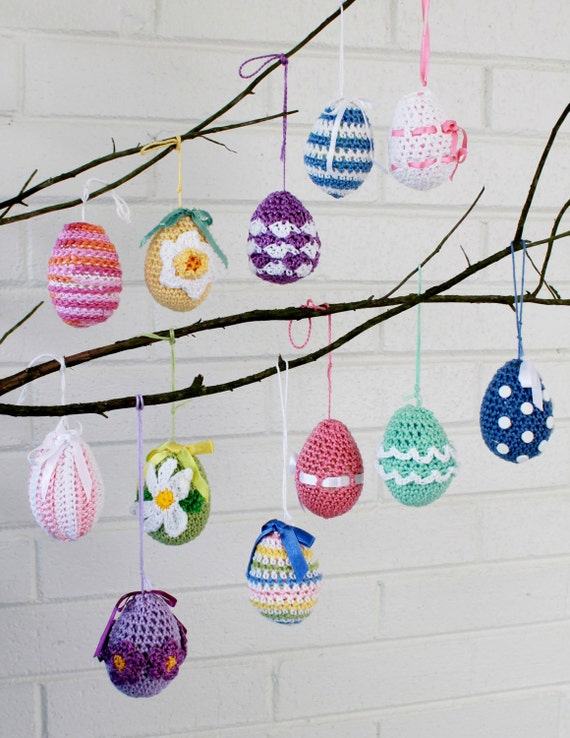Elegant Easter Eggs Crochet Pattern-PA952
