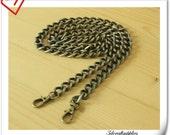 106 cm heavy duty polish anti brass purse chain metal pure chain P77