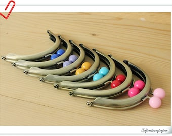 7 color 8cm half round anti bronze  purse frame (purse frame wholesale) AB61-AB67