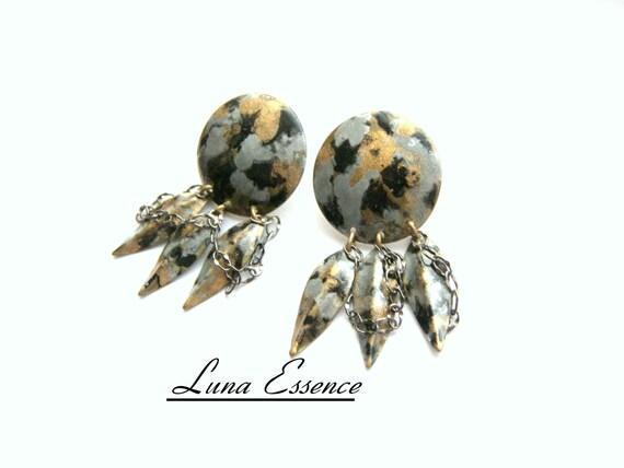 Brass Earrings, Dangle Earrings, Black Earrings, Painted Jewelry, Feather Earrings, Chain Earrings, Top Selling Earrings, Perfect Earrings