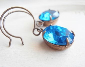 Vintage Jewel Earrings - Sea