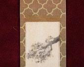 Dollhouse miniature scroll painting - Plum Branch