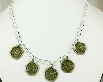 Clearance Sale MAMMA Necklace with Bright Silver Chain