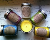 set of 3 soy candles 8oz orchid rain, blue hydrangea, camomile special order