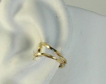 Ear Cuff Gold Ear cuff Non-pierced Cartilage Wrap Earring Fake Conch No Piercing Cuff Earring Faux Pierced Hoop Double Twist EDWGF