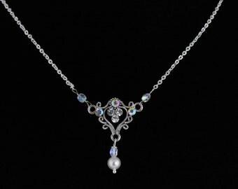 Rhinestone Necklace. Listing 120009765