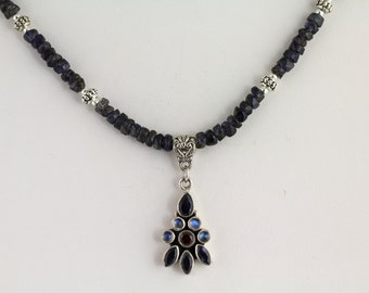Iolite Necklace. Listing 123557243
