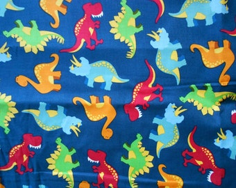Shopping Cart Safety Harness - Colorful Dinosaurs on blue wrap and red strap