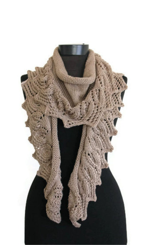 Taupe Baktüs Shawl and Scarf