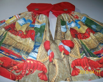 Lobster Kitchen Towel Set w/ red Top