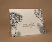 VIntage Botanical Rose Thank You