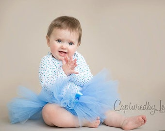 Tiny Dancer Tutu - Custom SEWN Ballet Style Tulle Skirt - short length - Infant and Toddler Tutu - photo prop, flower girl, birthday party