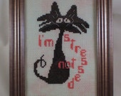 I'm Not Stressed - counted cross stitch chart - downloadable chart