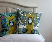CUSTOM listing for Monica. 2 x pillow covers. 1 x Owl Day. 1 x Owl Night