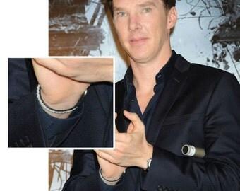 SwedArt B12 Sami Benedict Cumberbatch Reindeer Leather Pewter Braid Antler Button Black SMALL