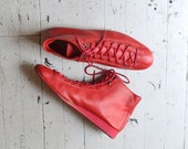 red leather ankle boots / 80s ankle boots / Supersonic booties