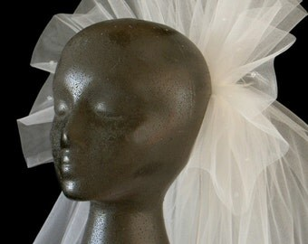 Short Wedding Veil, Classic Veil, 2-Tier Veil, Fingertip Veil, Vintage Look Veil, Ruffle Pouf Veil, Corded Veil, Custom Veil, Handmade Veil