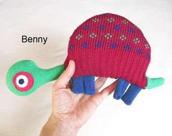 Recycled Knit Fabric, Turtle Plush,Toy Doll