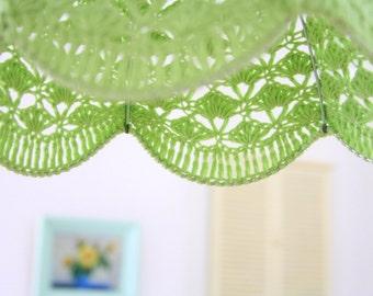 Crochet Lamp Shade - pastel green