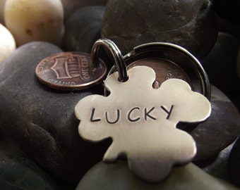 Four Leaf Clover Version,  Lucky Us Copper Keychain with three lucky pennies