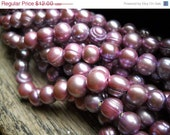 "Groundhog Sale Fabulous Cultured Freshwater Pearls - Large Hole - Lavender - 8"" Strand - 9mm"