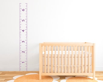 "Ruler Growth Chart Vinyl Wall Decal 9""  DB156"
