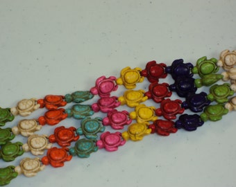 Turtle Beads - Multicolored - Sold per strand - #TURQ101