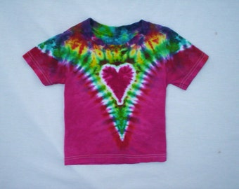 Childrens-Pretty Heart Tie Dye Youth Size