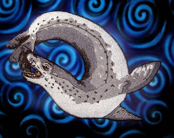 Epic Leopard Seal Hydrurga leptonyx Iron On Patch seals sea lion sea leopard